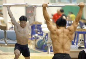 Chinese Olympic Lifter Back Muscles