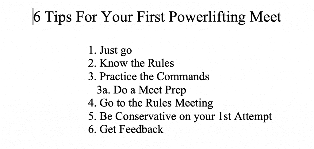 Six Tips for your First Powerlifting Meet